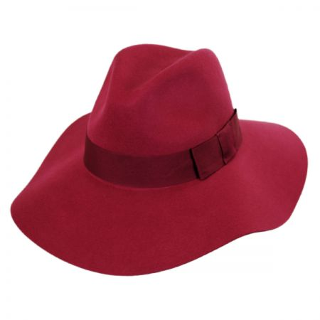 Red Fedora Hat at Village Hat Shop 2605751d815