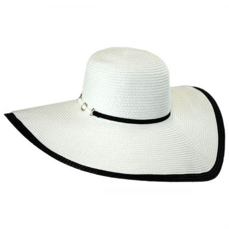 Tropical Trends Buckle Toyo Straw Wide Brim Swinger Hat