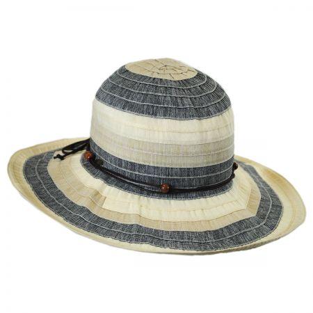 Three-Tone Ribbon Sun Hat