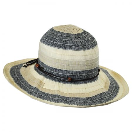 Tropical Trends Three-Tone Ribbon Sun Hat