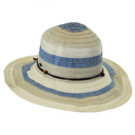 Tropical Trends Three-Tone Ribbon Sun Hat