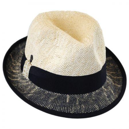 Tommy Bahama Two-Tone Toyo Straw Trilby Fedora Hat