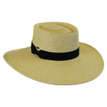 Scala Toyo Straw Wide Brim Planter Hat