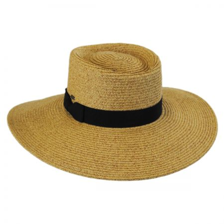 Scala Toyo Straw Wide Brim Planter Hat