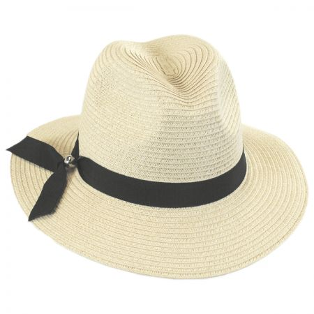 Ribbon Band Toyo Straw Fedora Hat alternate view 1