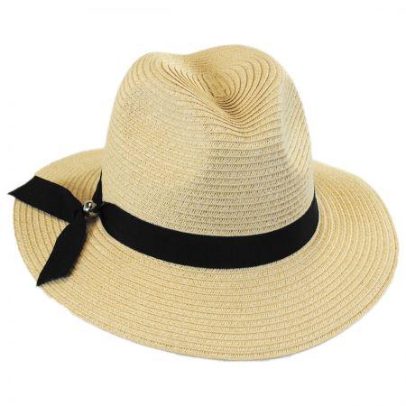 Ribbon Band Toyo Straw Fedora Hat alternate view 6
