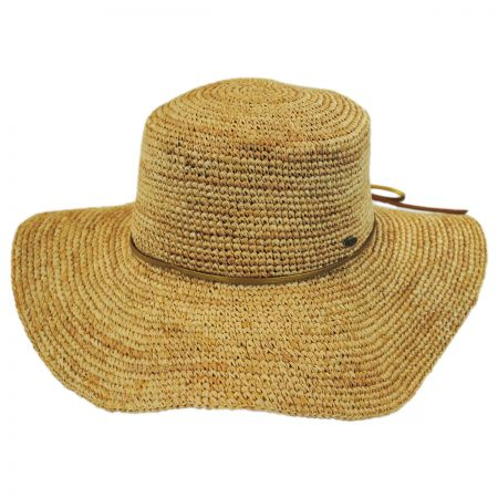 Scala Organic Raffia Straw Floppy Planter Hat