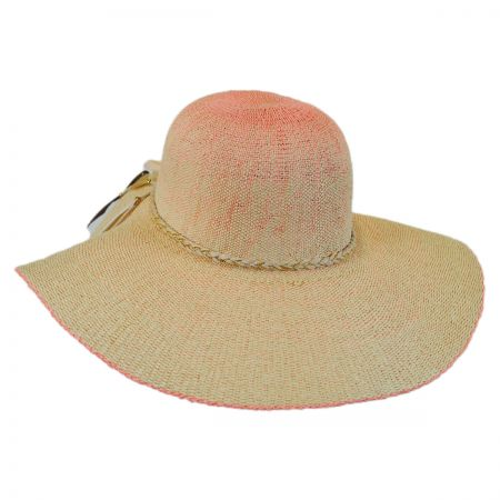 Scala Boho Toyo Straw Wide Brim Swinger Hat