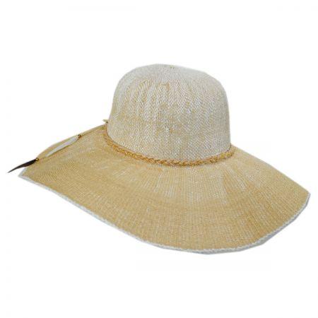 Scala Boho Toyo Straw Wide Brim Swinger Hat