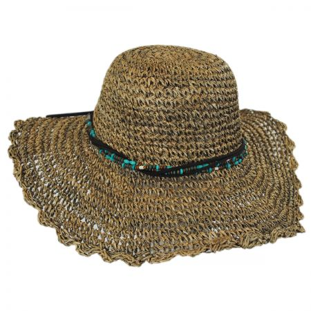 Scala Scallop Brim Seagrass Straw Swinger Hat