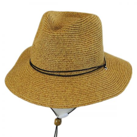 Scala Kids' Chincord Toyo Straw Outback Hat