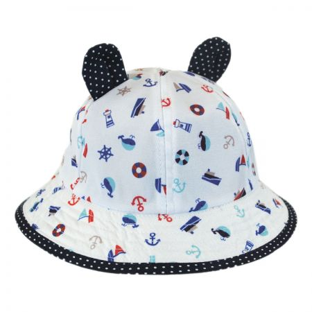 Scala Baby Nautical Bucket Hat with Ears