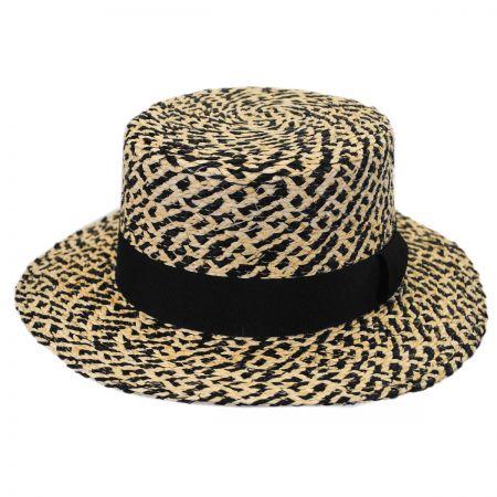 Autumn Raffia Straw Boater Hat alternate view 1