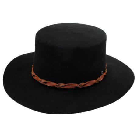 Brixton Hats Bridger Wool Felt Boater Hat