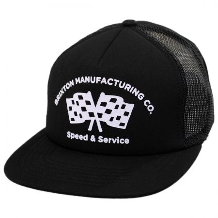 Brixton Hats Burnout Mesh Trucker Snapback Baseball Cap