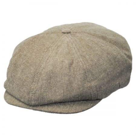 Brixton Hats Brood Cotton and Linen Newsboy Cap