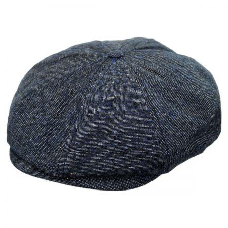 Brixton Hats Brood Chambray Linen Blend Newsboy Cap