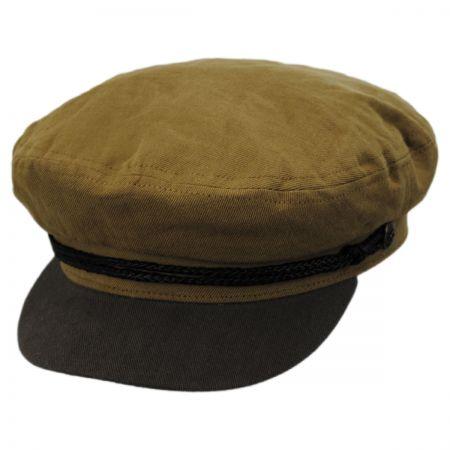 Brixton Hats Two-Tone Linen Fiddler Cap