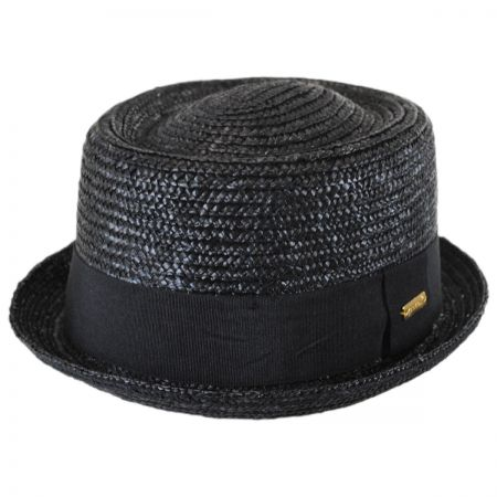 Kangol Wheat Straw Braid Pork Pie Hat