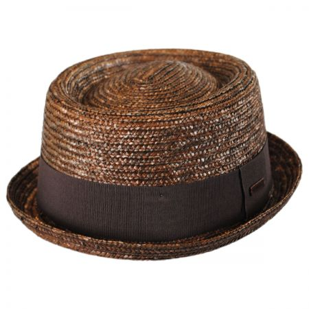 Kangol - Wheat Straw Braid Pork Pie Hat