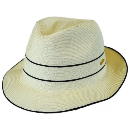 Fine Toyo Straw Braid Trilby Fedora Hat alternate view 1