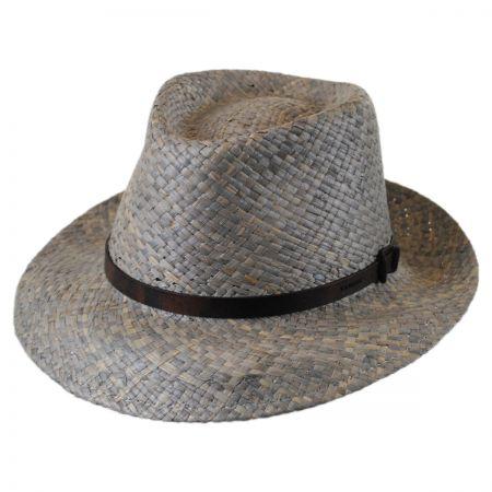 Kangol Belt Raffia Straw Hiro Trilby Fedora Hat
