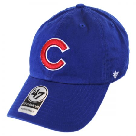 47 Brand Chicago Cubs Cooperstown MLB Clean Up Strapback Baseball Cap