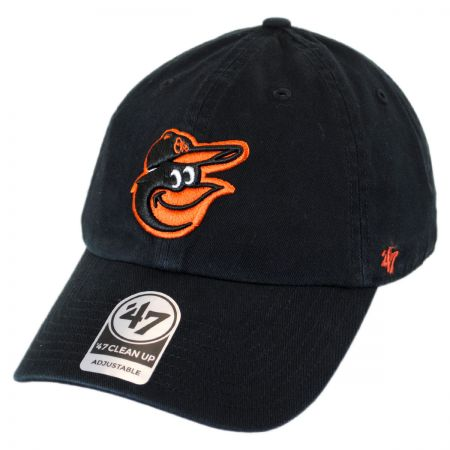 47 Brand Baltimore Orioles MLB Clean Up Strapback Baseball Cap Dad Hat