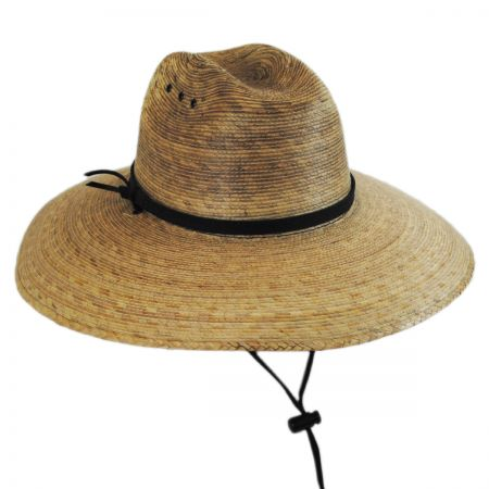 Jeanne Simmons Palm Leaf Straw Lifeguard Hat