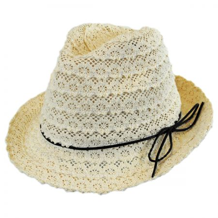 Jeanne Simmons Cotton Lace Fedora Hat