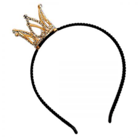 Mini Rhinestone Crown Headband alternate view 1