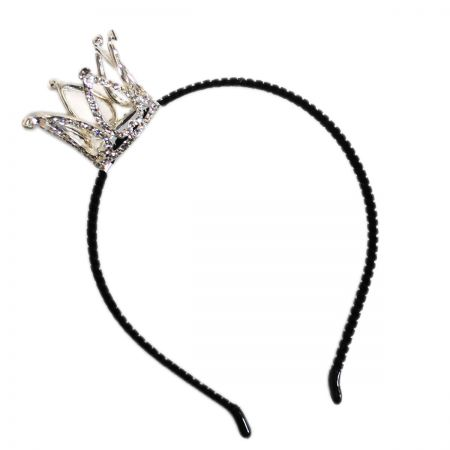Mini Rhinestone Crown Headband alternate view 3