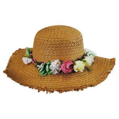 Jeanne Simmons Kids' Fringe Toyo Straw Sun Hat