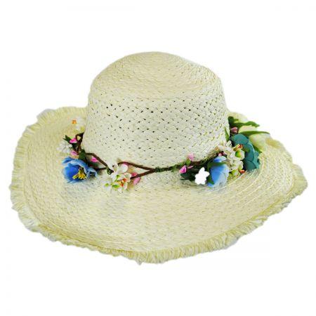 Kids' Fringe Toyo Straw Sun Hat alternate view 1