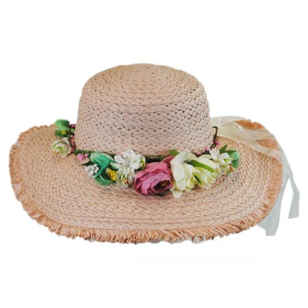 Kids' Fringe Toyo Straw Sun Hat alternate view 2