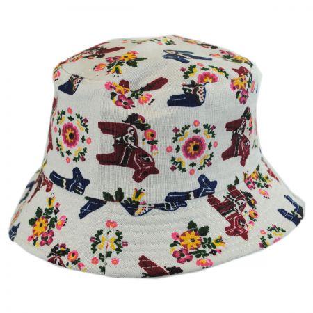 Kids' Horses Cotton Bucket Hat alternate view 1