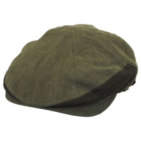 EK Collection by New Era Tonal Linen Driver Newsboy Cap