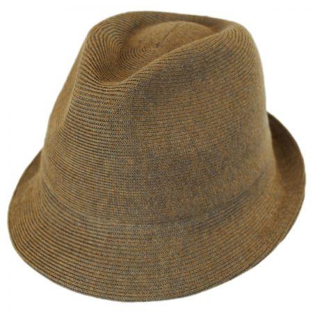 Kangol Rib Knit Cotton Blend Arnold Trilby Fedora Hat