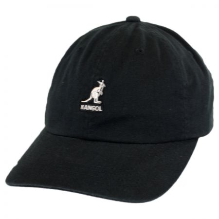 Washed Cotton Strapback Baseball Cap Dad Hat