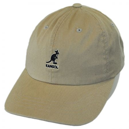 Washed Cotton Strapback Baseball Cap Dad Hat alternate view 9