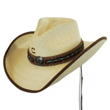 White Lie Palm Leaf Straw Western Hat alternate view 1