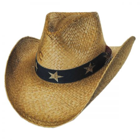 Charlie 1 Horse Stars and Stripes Straw Western Hat
