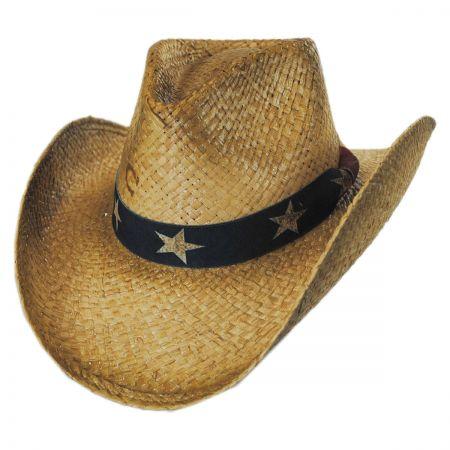 Stars and Stripes Straw Western Hat alternate view 5