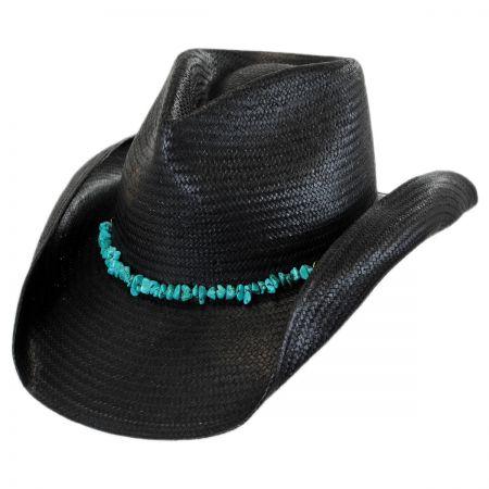 7c6672f2fb0 Black Straw Hats at Village Hat Shop
