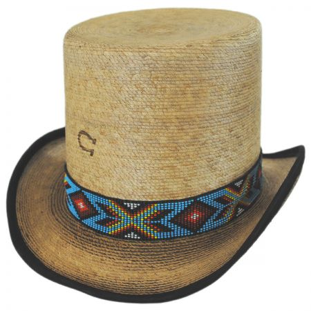 Charlie 1 Horse Outlaw Spirit Palm Leaf Straw Top Hat