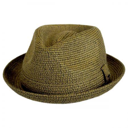 Billy Toyo Straw Braid Fedora Hat