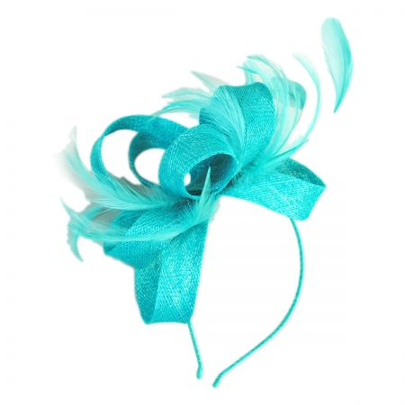 Scala Loop and Feather Fascinator Headband
