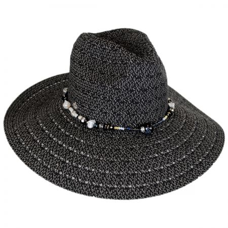 Bead Band Toyo Straw Fedora Hat alternate view 1