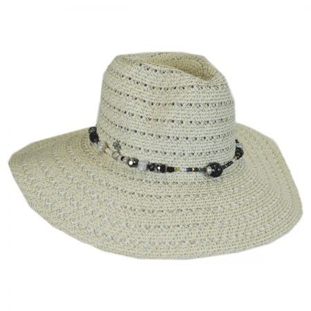 Bead Band Toyo Straw Fedora Hat alternate view 5
