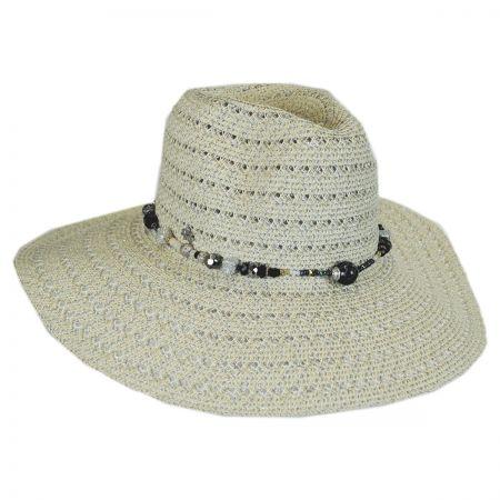 Cappelli Straworld Bead Band Toyo Straw Fedora Hat